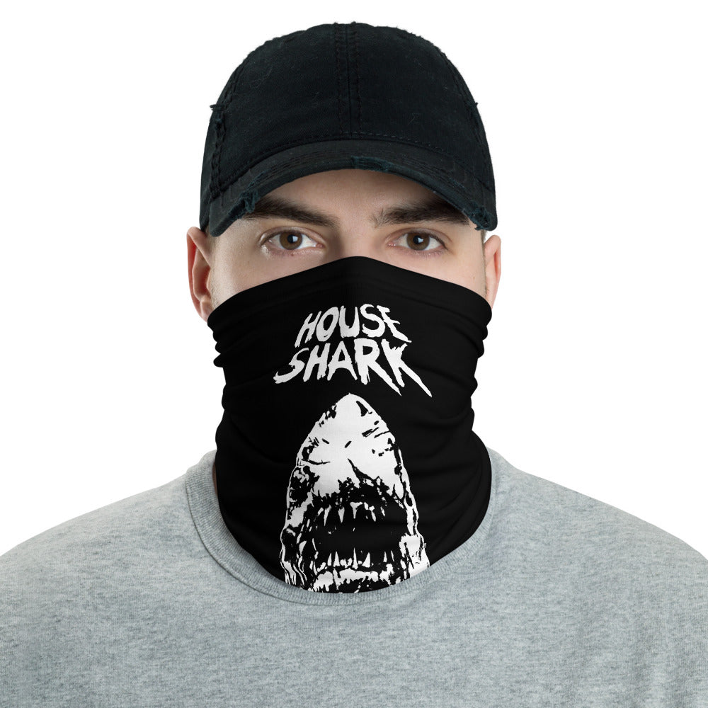 House Shark B&W Neck Gaiter