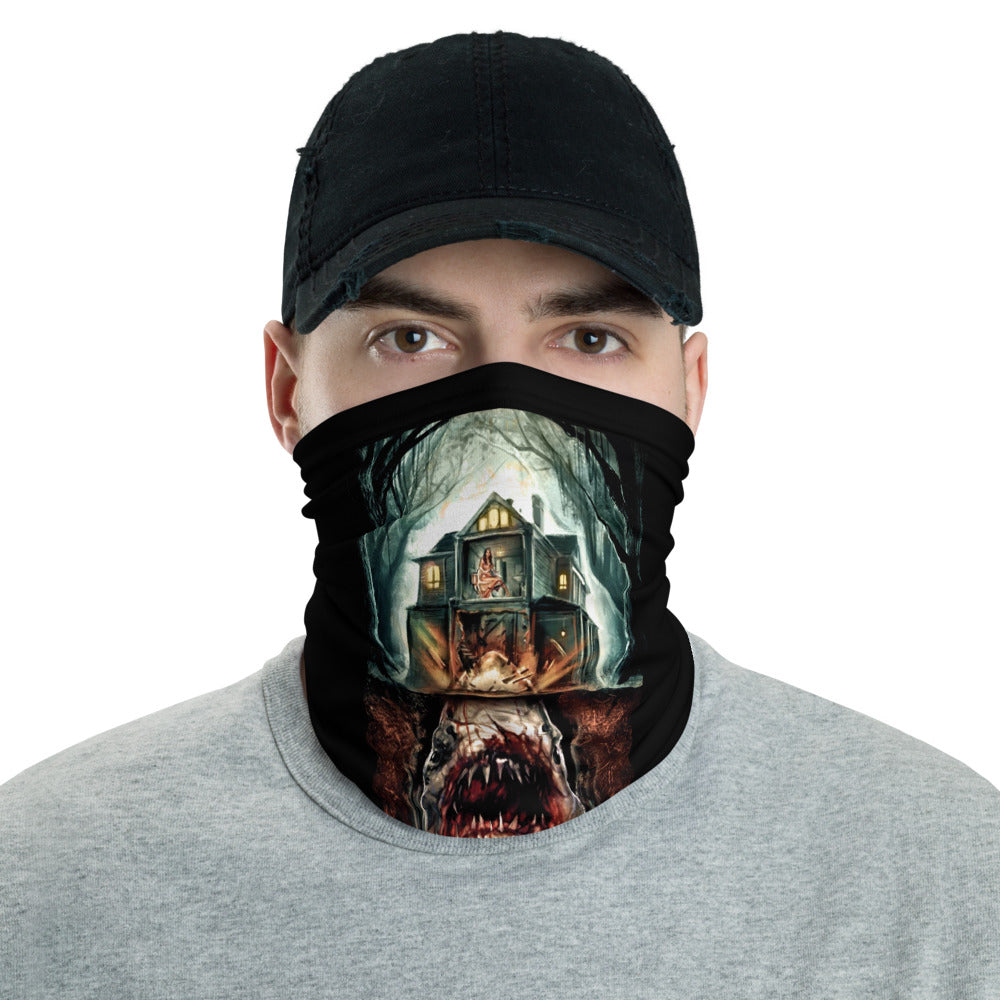 House Shark Illustrated Art Neck Gaiter