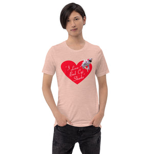 Bad CGI Sharks Woman's Shark Heart Short-Sleeve Unisex T-Shirt