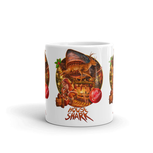 House Shark Christmas Mug