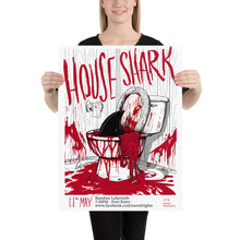 House Shark Neon Frights Paper Poster