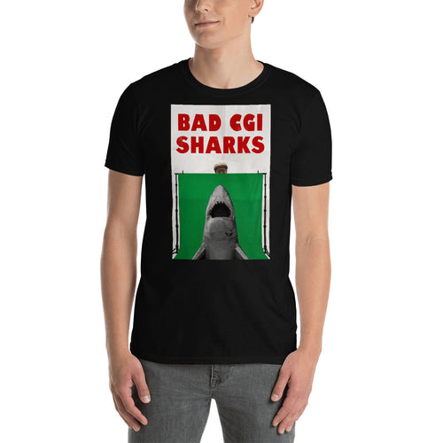 Bad CGI Sharks Parody T-Shirt Short-Sleeve Unisex T-Shirt