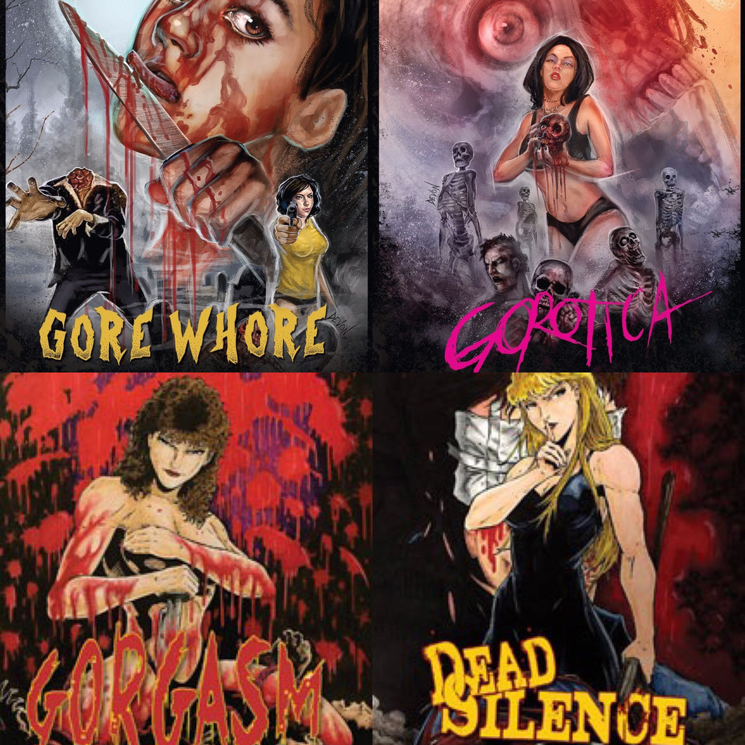 4 Pack DVD Gorotica Gorgasm Gore Whore Dead Silence