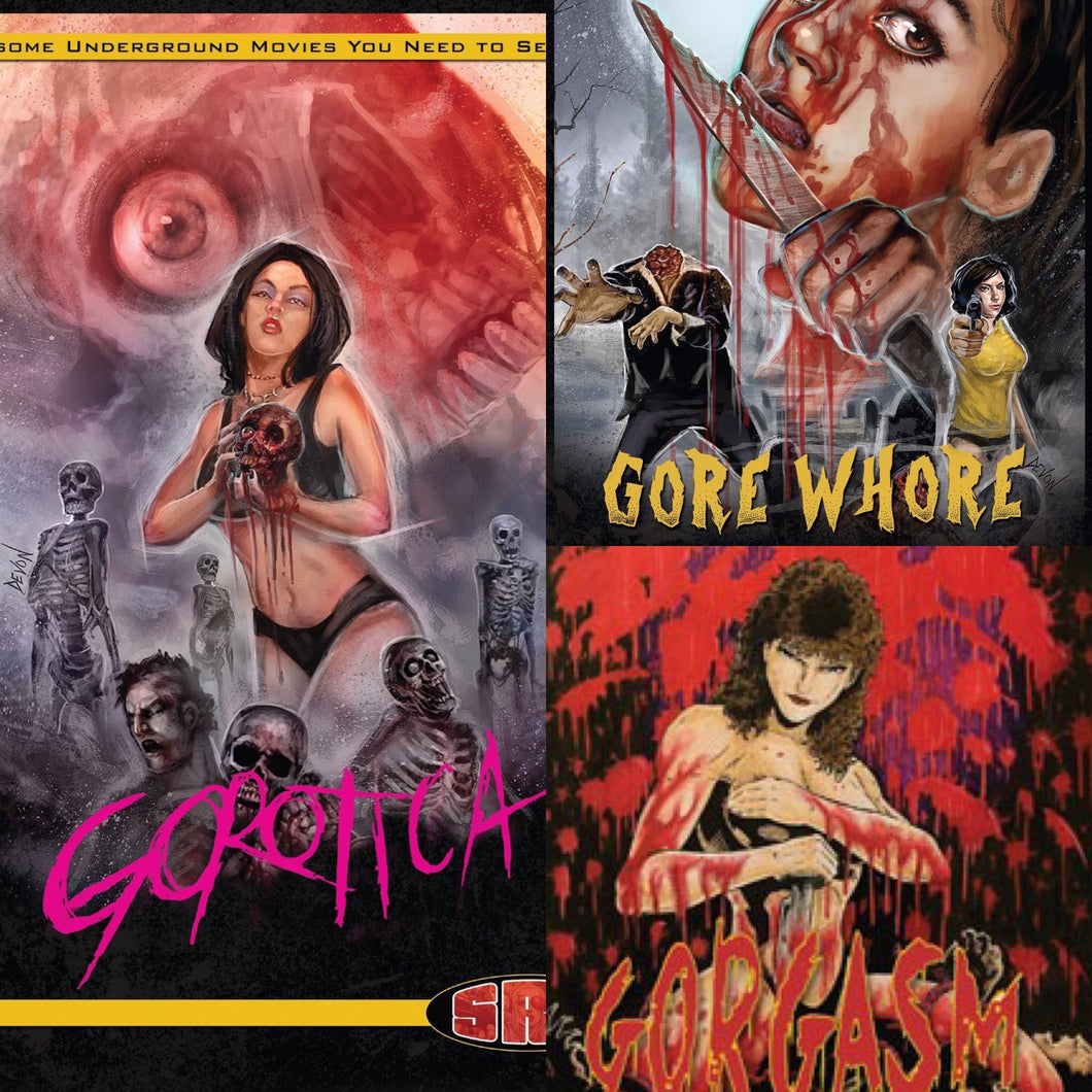 Gore Trilogy 3 Pack DVD Gorgasm Gorotica Gore Whore