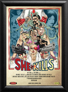 "She Kills One Sheet Poster 27""x39"" Tim Tyler Art, rolled"