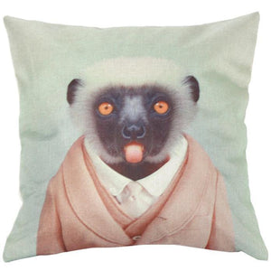 Fancy Monkey Accent Pillow Case-Home Decor-Kawaii for Days
