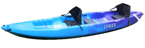 Lynxx Sit-on-top Kayak 1, 2, 3 People (Flatwater & Surf)