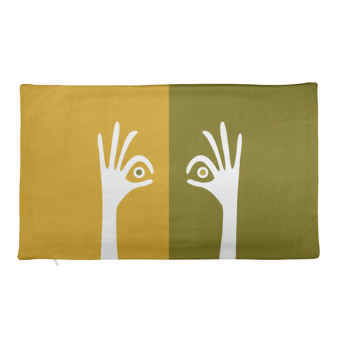 Ok Eye Green Pillow Case