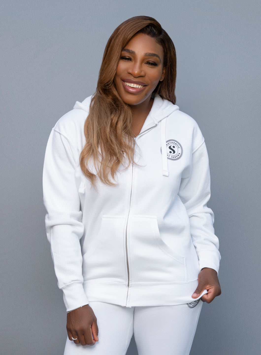 Be Authentic Unisex Zip Hoodie in White