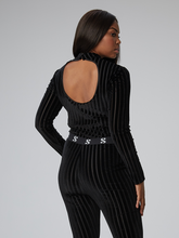 Load image into Gallery viewer, S-By-Serena-Keira-Mock-Neck-Bodysuit-In-Burnout-Velvet-Back