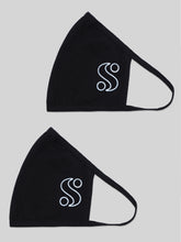 Load image into Gallery viewer, S-By-Serena-Silhouette-S-Logo-Masks-Two-Pack-Side-Flat-Lay
