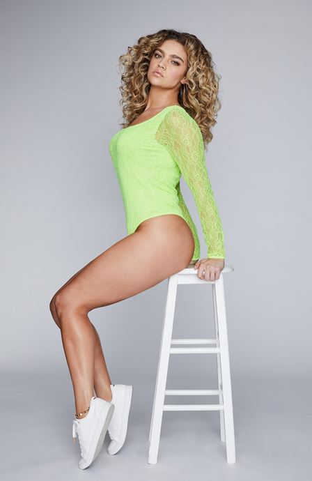 S-By-Serena-Long-Sleeve-Lace-Bodysuit-In-Neon-Side