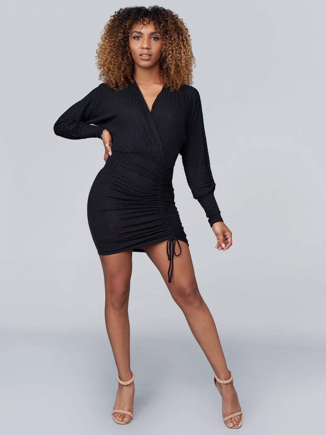 Bridgette Bodycon Dress in Black