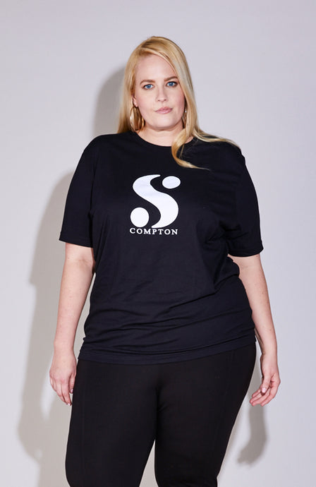 S-By-Serena-Serena-Great-What-Is-Your-S-Logo-Tee-In-Black-Front