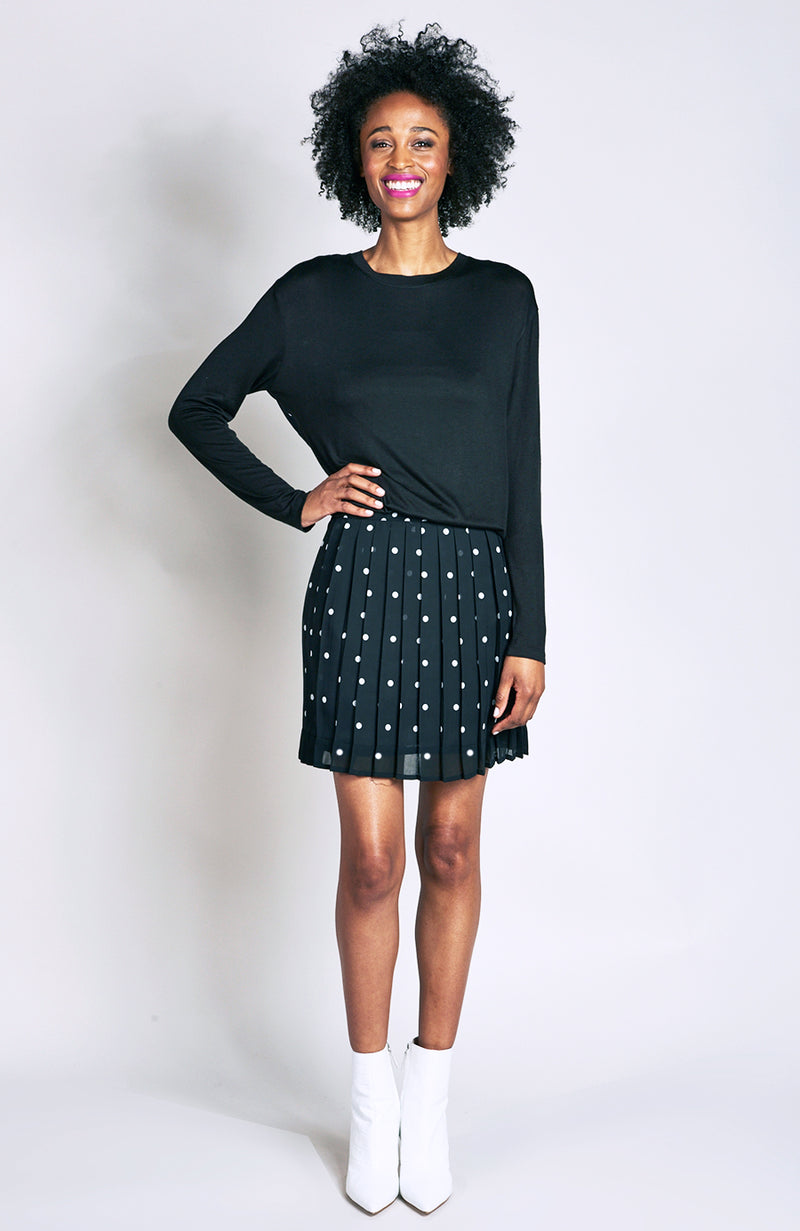 Connect the Dots Mini Skirt