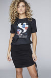 "Limited Edition ""S"" Logo Dallas Tee in Black"