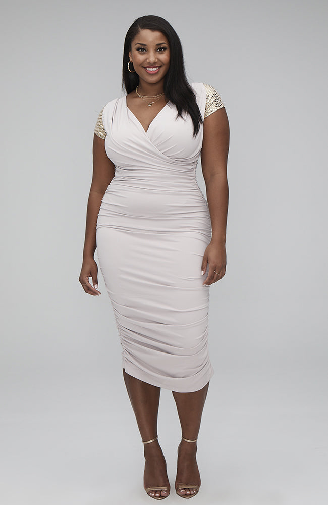 Spellbound Ruched Midi Dress