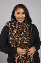 Load image into Gallery viewer, Leopard Print Oversize Scarf
