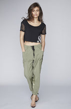 Load image into Gallery viewer, Metro Satin Lounge Pant in Olive