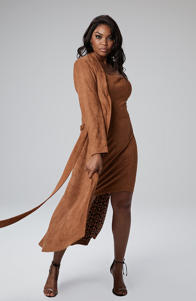 Giovanna Maxi Coat in Almond