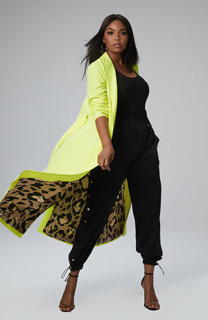 Giovanna Maxi Coat in Neon