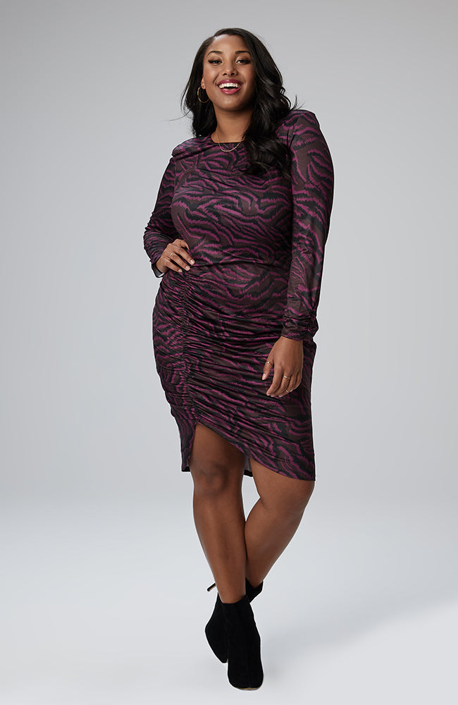 Serena GREAT Brooklyn Shirred Dress in Exotic Zebra