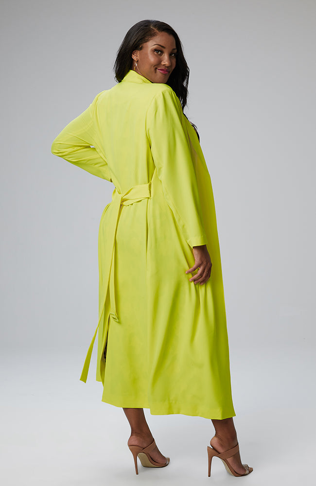 Serena GREAT Giovanna Maxi Coat in Neon