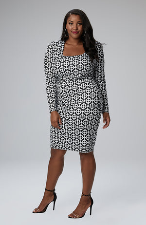 "Serena GREAT Imani Square Neck Icon ""S"" Dress"