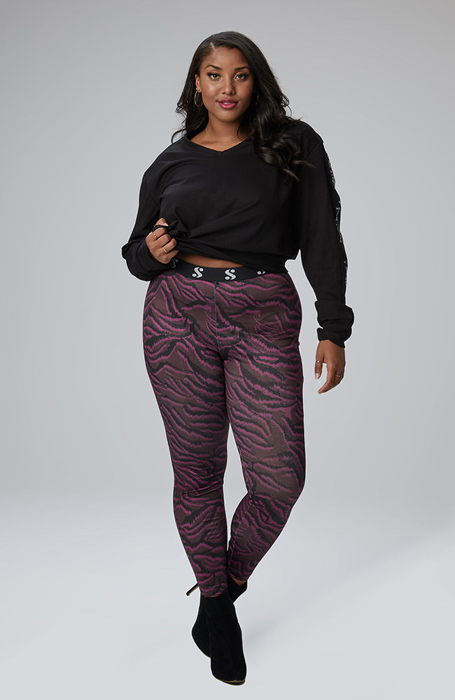 "Serena GREAT Keira Signature ""S"" Legging in Exotic Zebra"