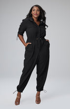Load image into Gallery viewer, Serena GREAT Seraya Utility Jumpsuit in Black