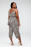 Serena GREAT Yvonne Python Wide Leg Cropped Jumpsuit