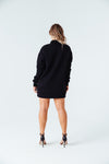 Embrace Me Mock Neck Sweater in Black