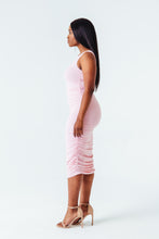 Load image into Gallery viewer, Ruched Goddess Midi Dress in Pink