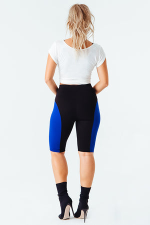 Contour Me Moto Short in Blue
