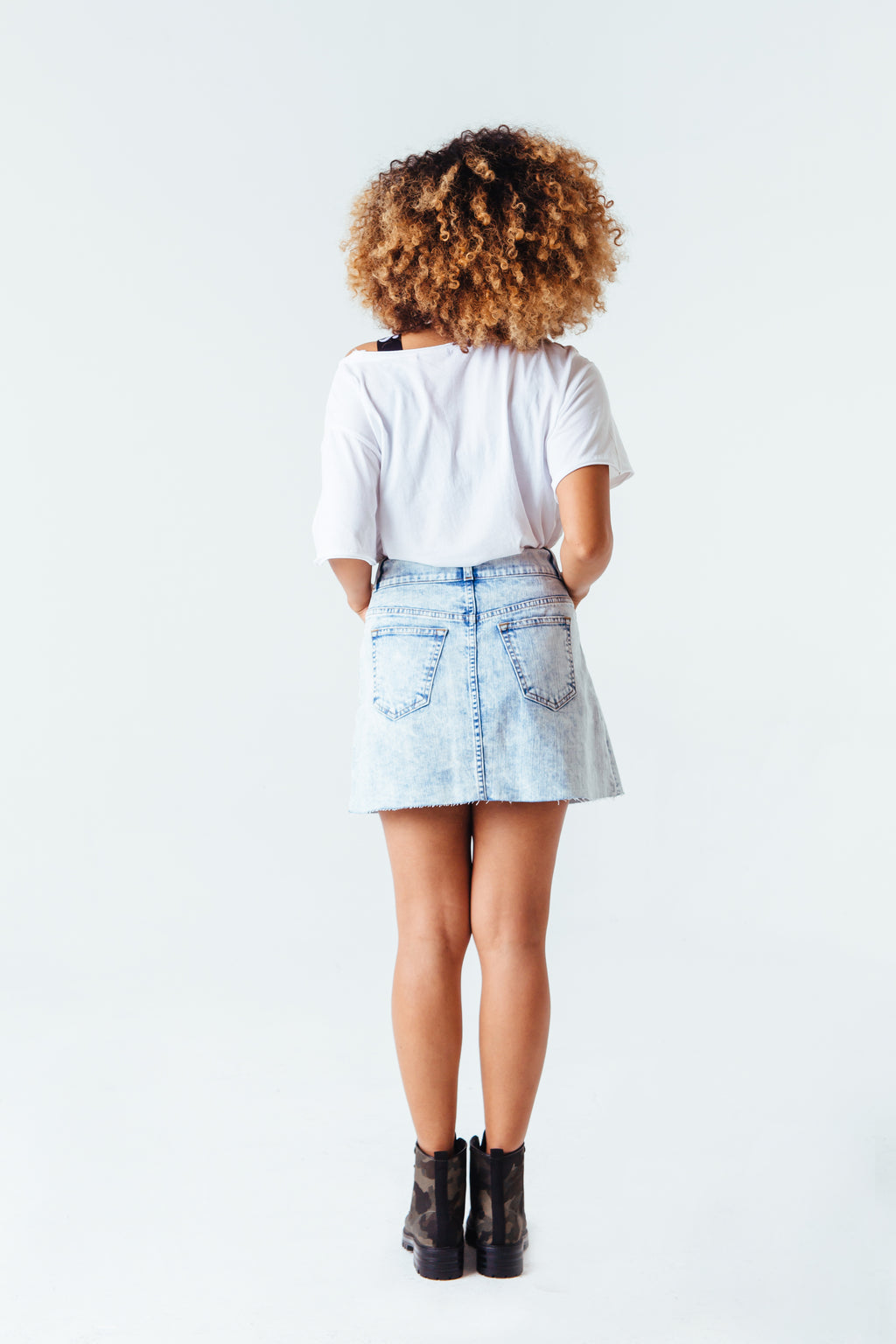 Highline Denim Skirt in Light Wash