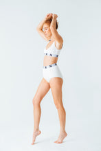 Load image into Gallery viewer, Signature S High-Waist Briefs in White