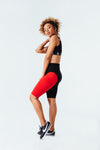 Contour Me Moto Short in Red