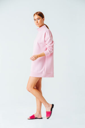 Embrace Me Mock Neck Sweater in Pink