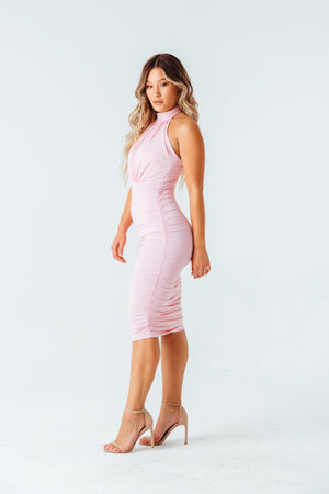 Starlet Ruched Halter Dress