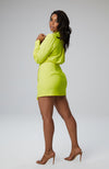 Kani Wrap Dress in Neon