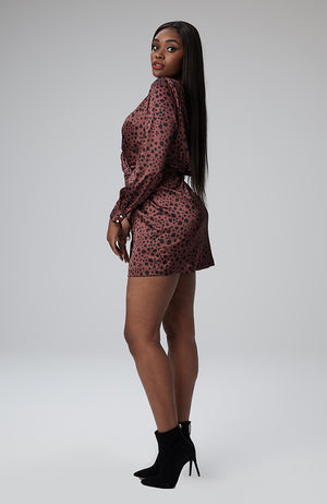 Kani Wrap Dress in Spotted Cheetah