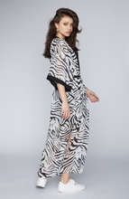 Load image into Gallery viewer, Zebra Print Sheer Kimono
