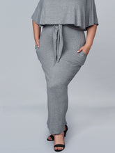 Load image into Gallery viewer, Serena GREAT Lydia Maxi Dress in Heather Gray