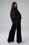 Maya Wide Leg Pant in Burnout Velvet