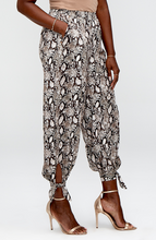 Load image into Gallery viewer, Roxanna Python Tie Cuff Soft Pant