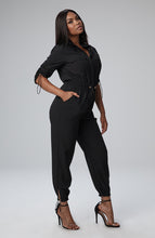 Load image into Gallery viewer, Seraya Utility Jumpsuit in Black