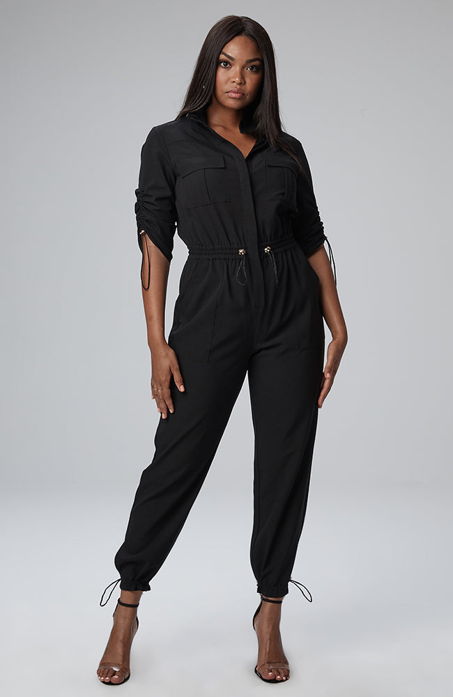 Seraya Utility Jumpsuit in Black