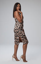 Load image into Gallery viewer, Sonya Cowl Neck Dress in Leopard