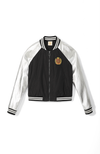 Level Up Metallic Bomber Jacket