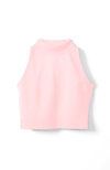 Essential Mock Crop Top in Pink